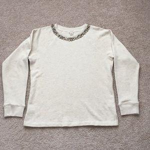 J. Crew jeweled sweatshirt sz med